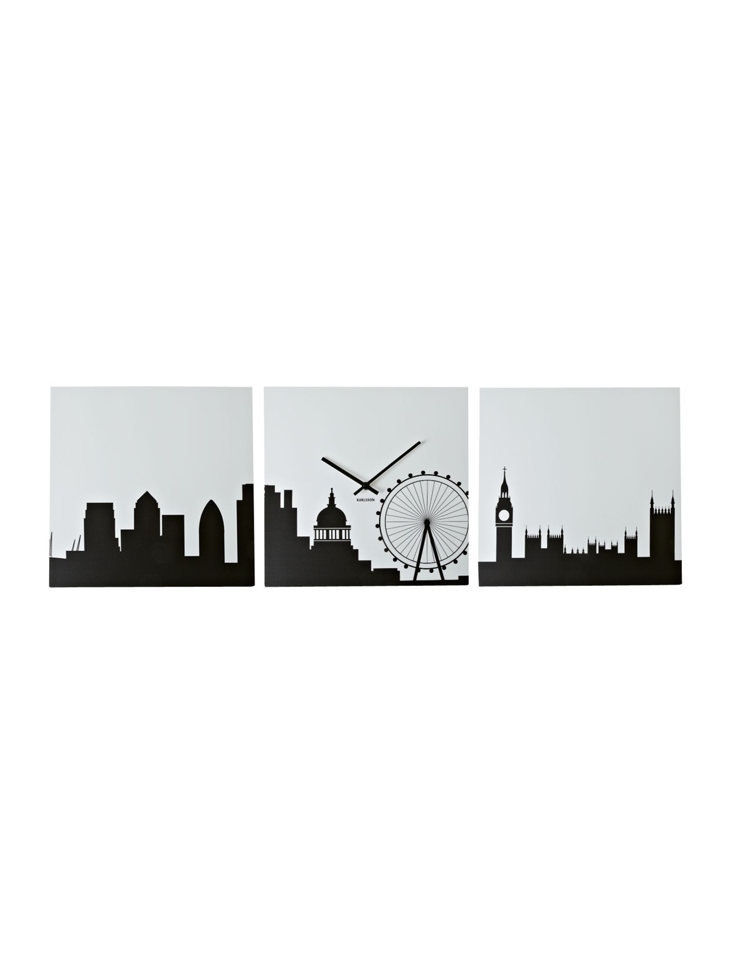London skyline MDF wall clock
