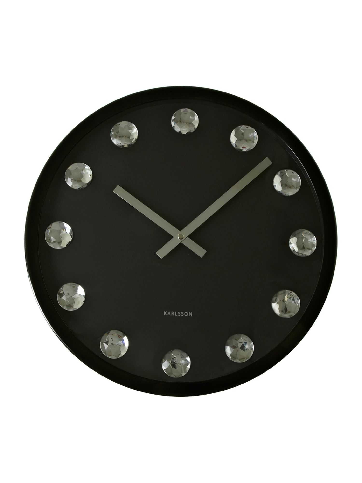 Big diamond steel clock