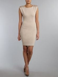 Jewel embellished bodycon dress