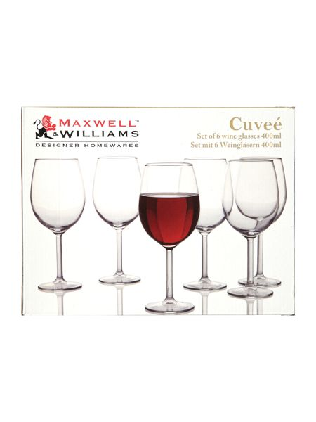 Maxwell & Williams Cuvee wine glass 400ml set of 6