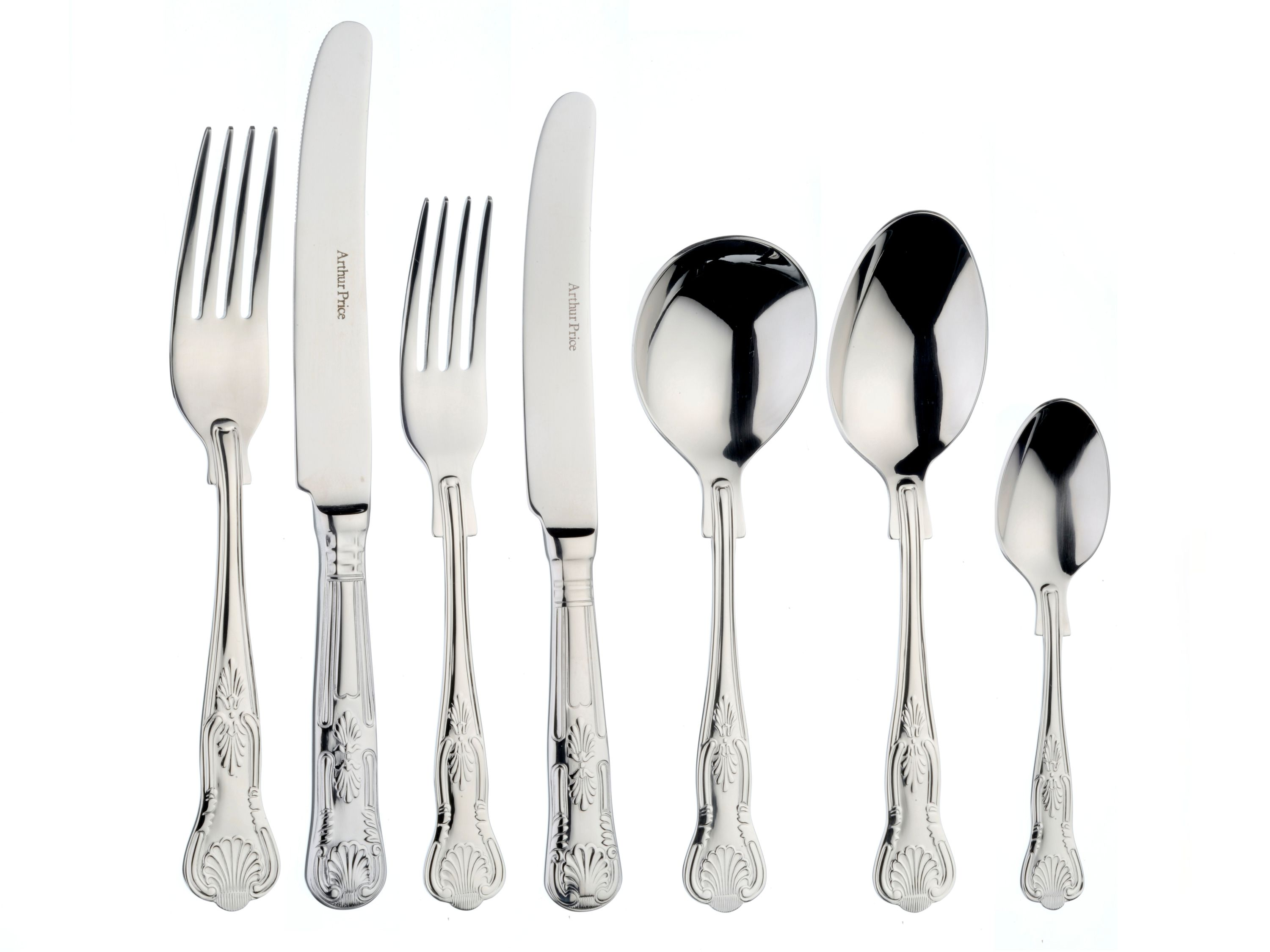 Kings stainless steel 7 piece place setting