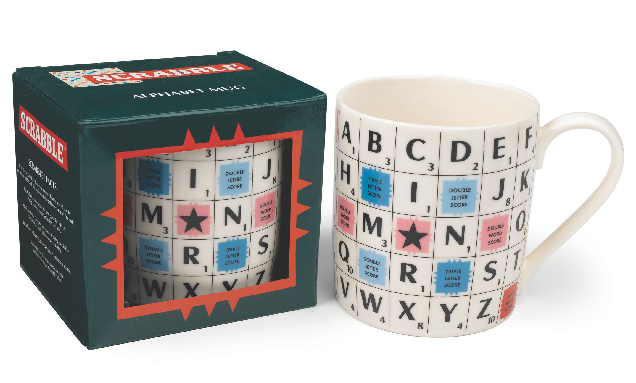 Scrabble ceramic alphabet mug