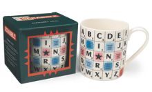 Wild and Wolf Scrabble ceramic alphabet mug