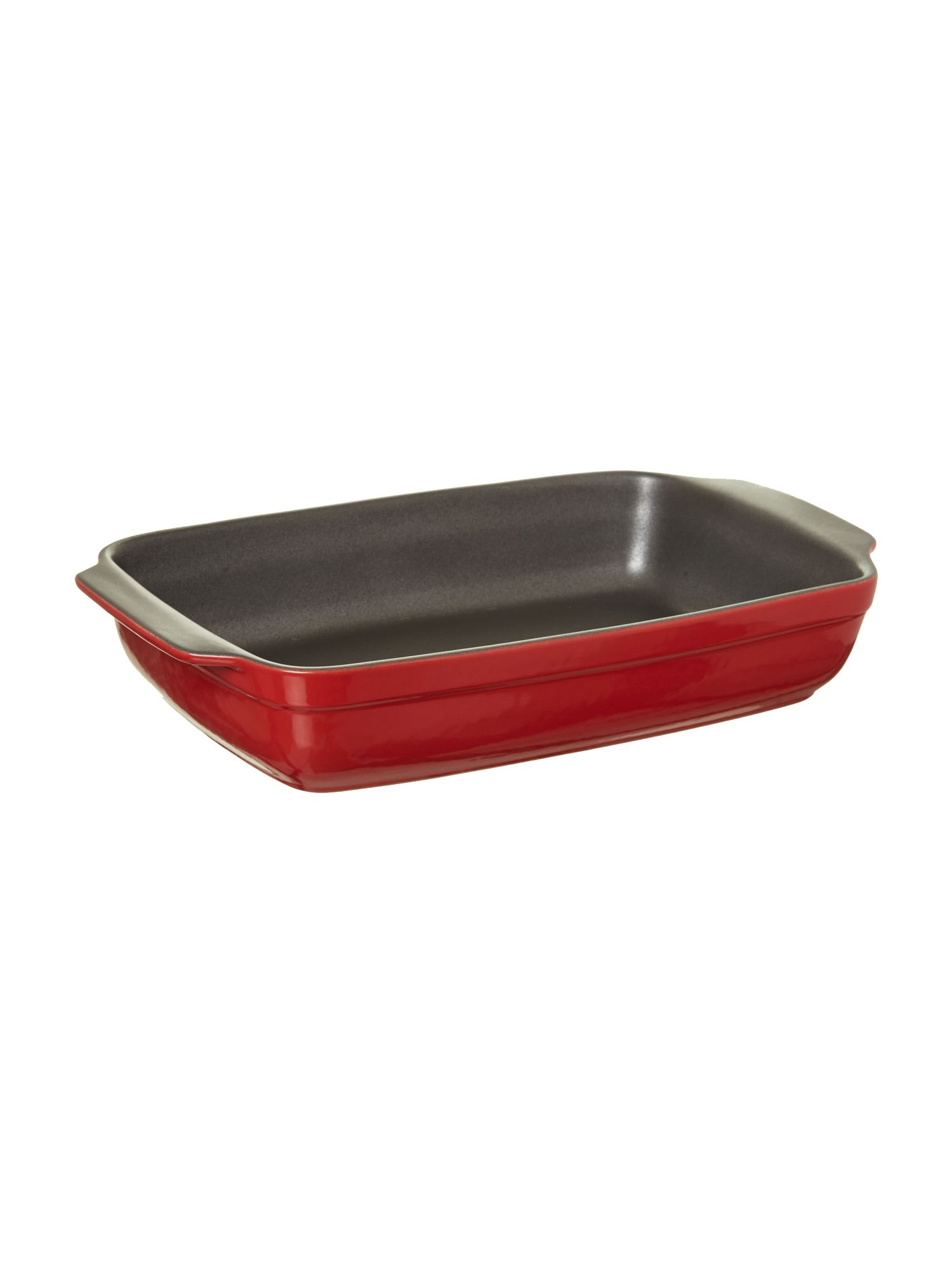 Non-stick rectangular roaster 30cm, red