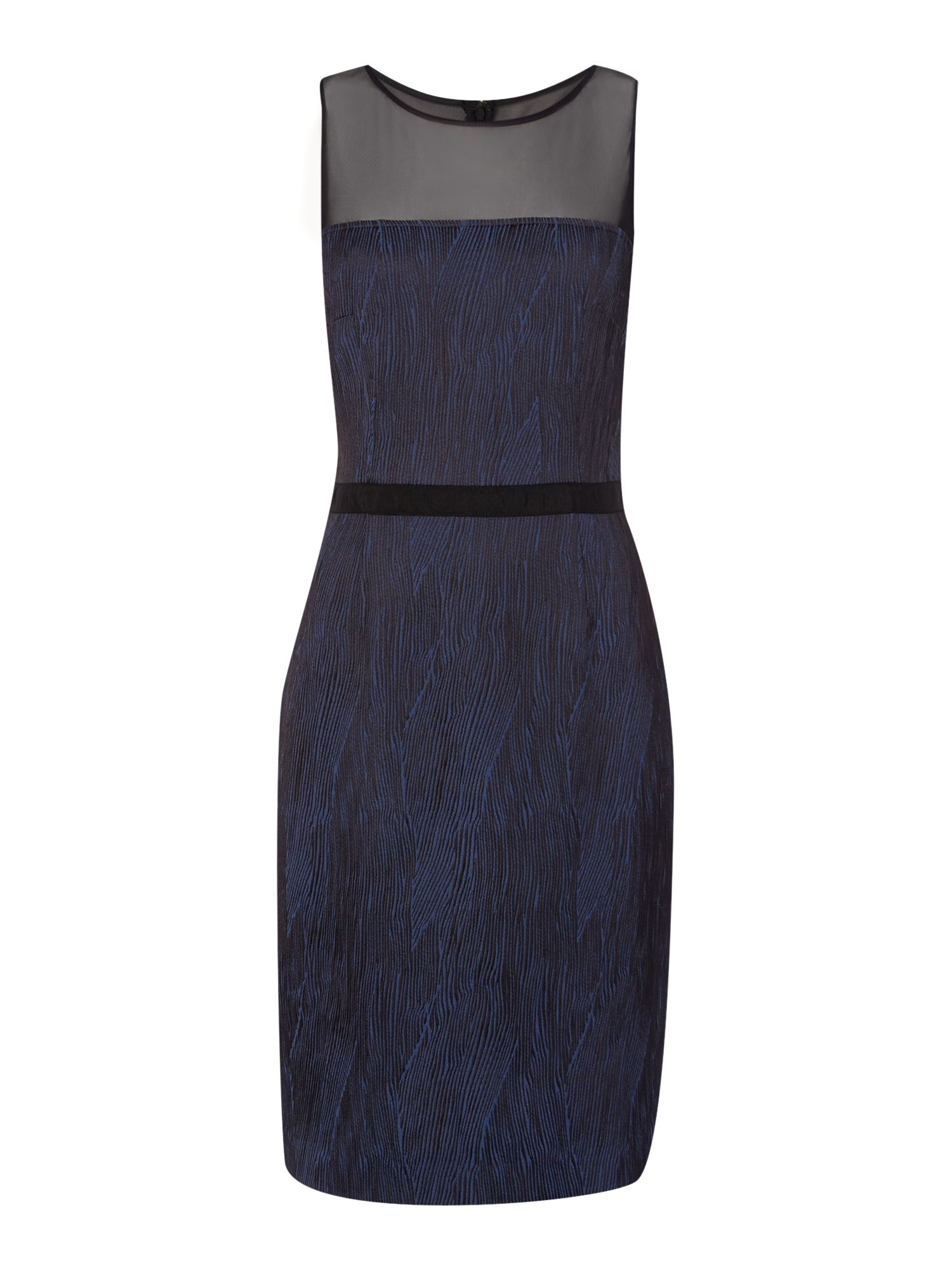 Printed Sleeveless Fitted Waist Pencil Dress