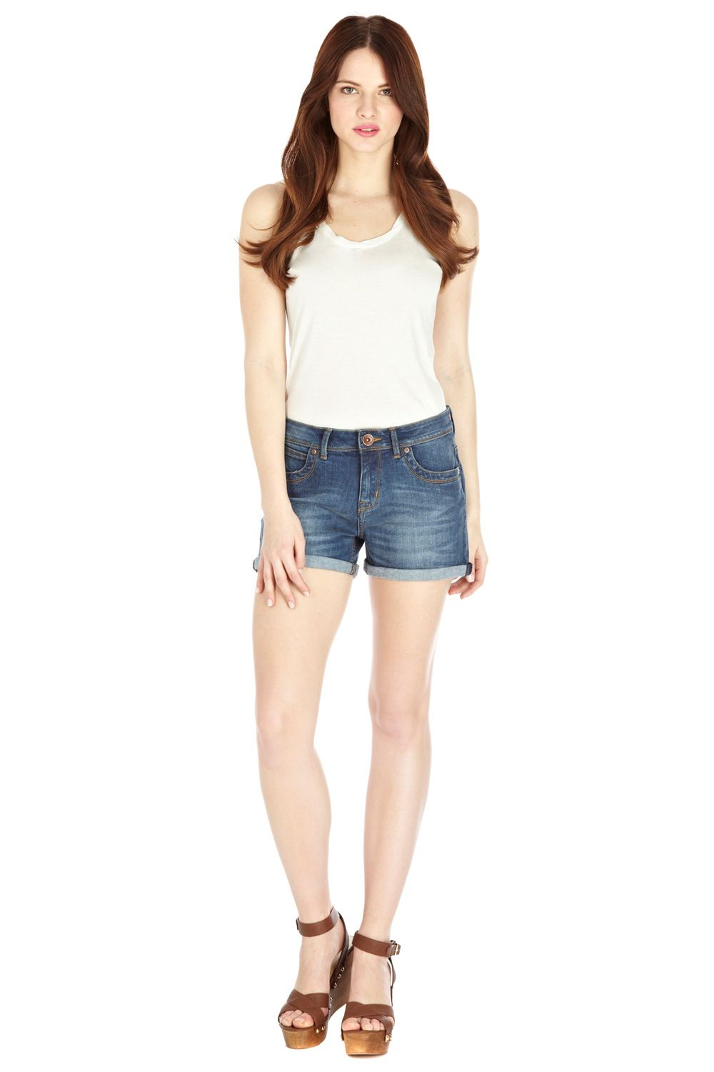 Authentic wash boyfriend short