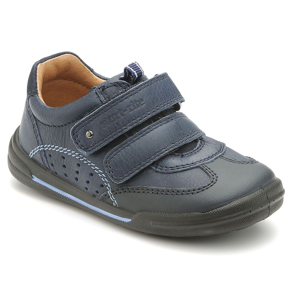Boy`s flexy-soft air navy leather shoes