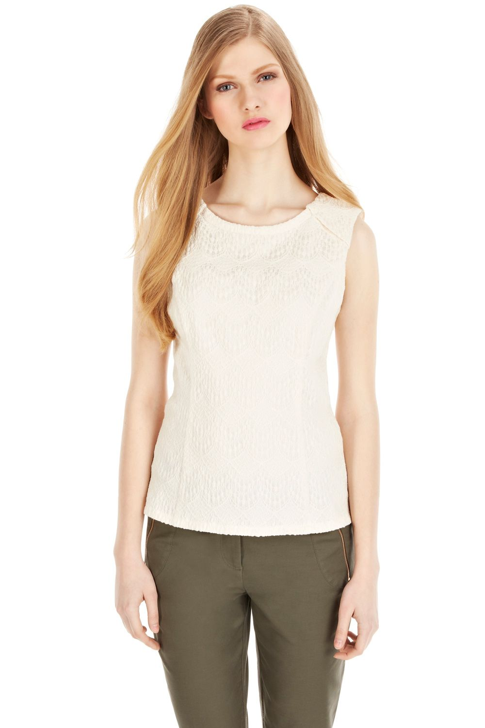 Cotton bonded shell top