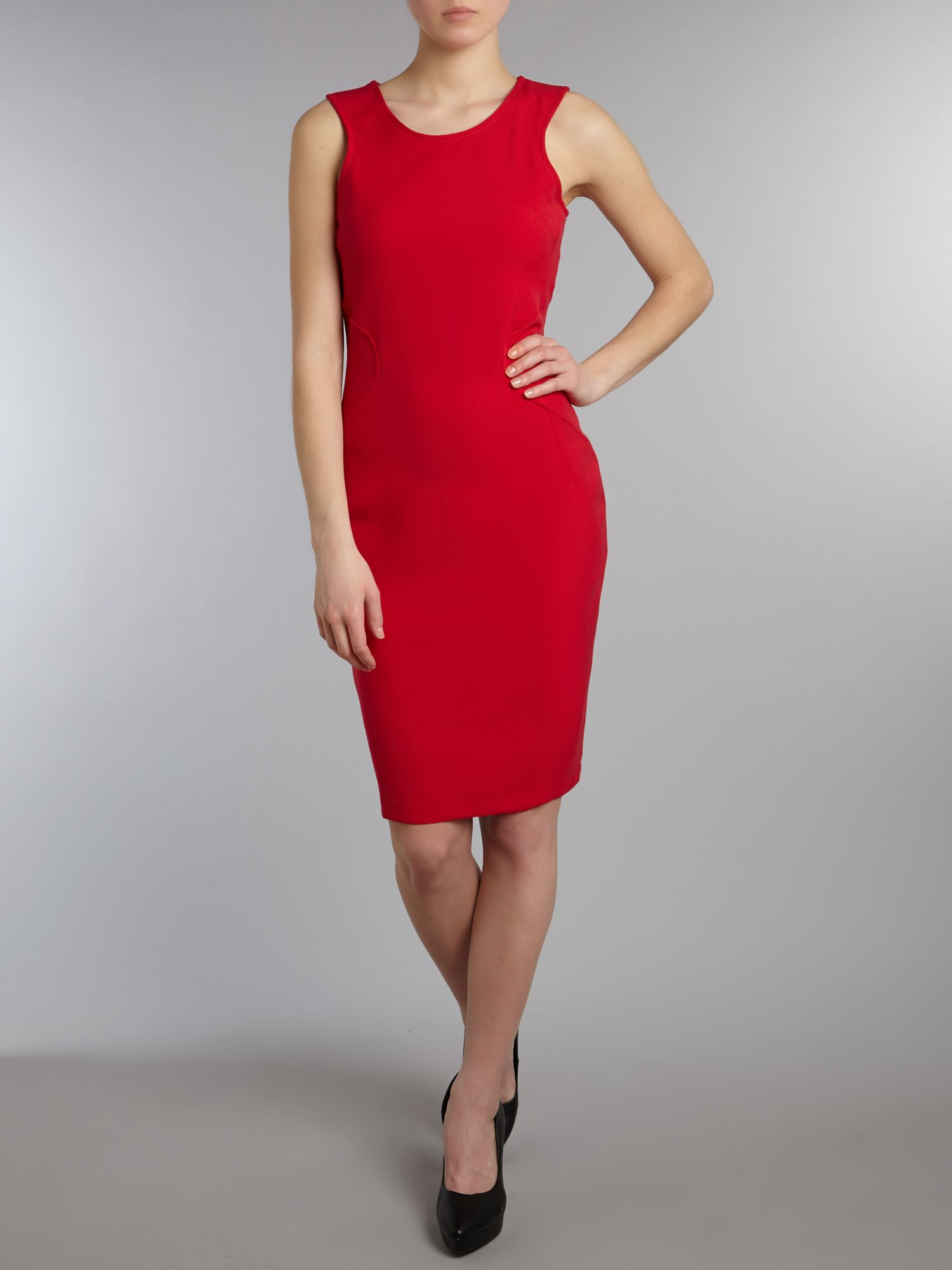 racer seam detail dress