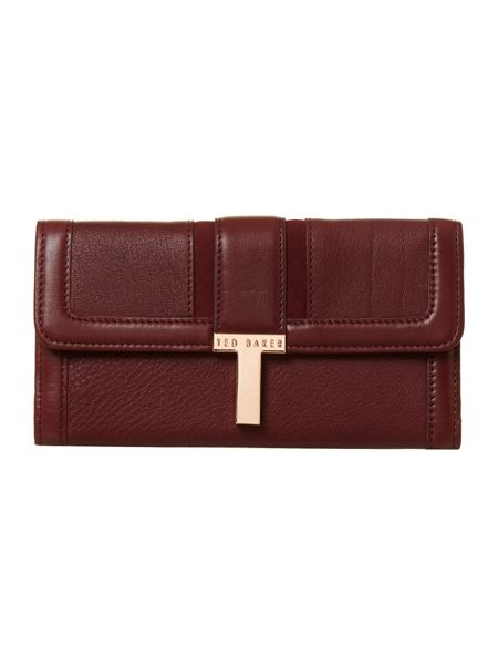 Ted Baker Tleather red flap over purse