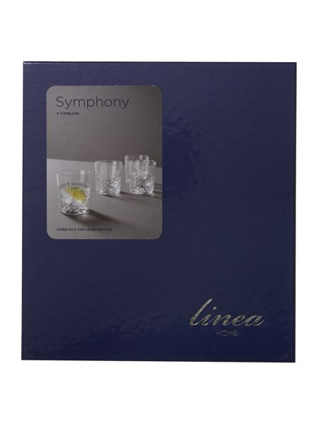 Linea Symphony tumbler lead crystal glasses, set of 4