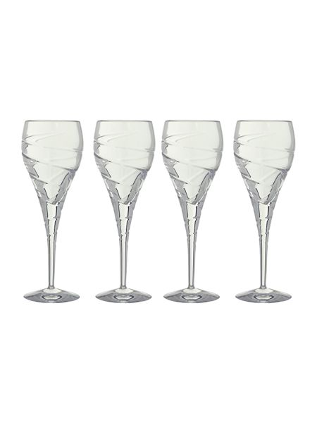 Linea Swirl red wine lead crystal glasses, box of 4