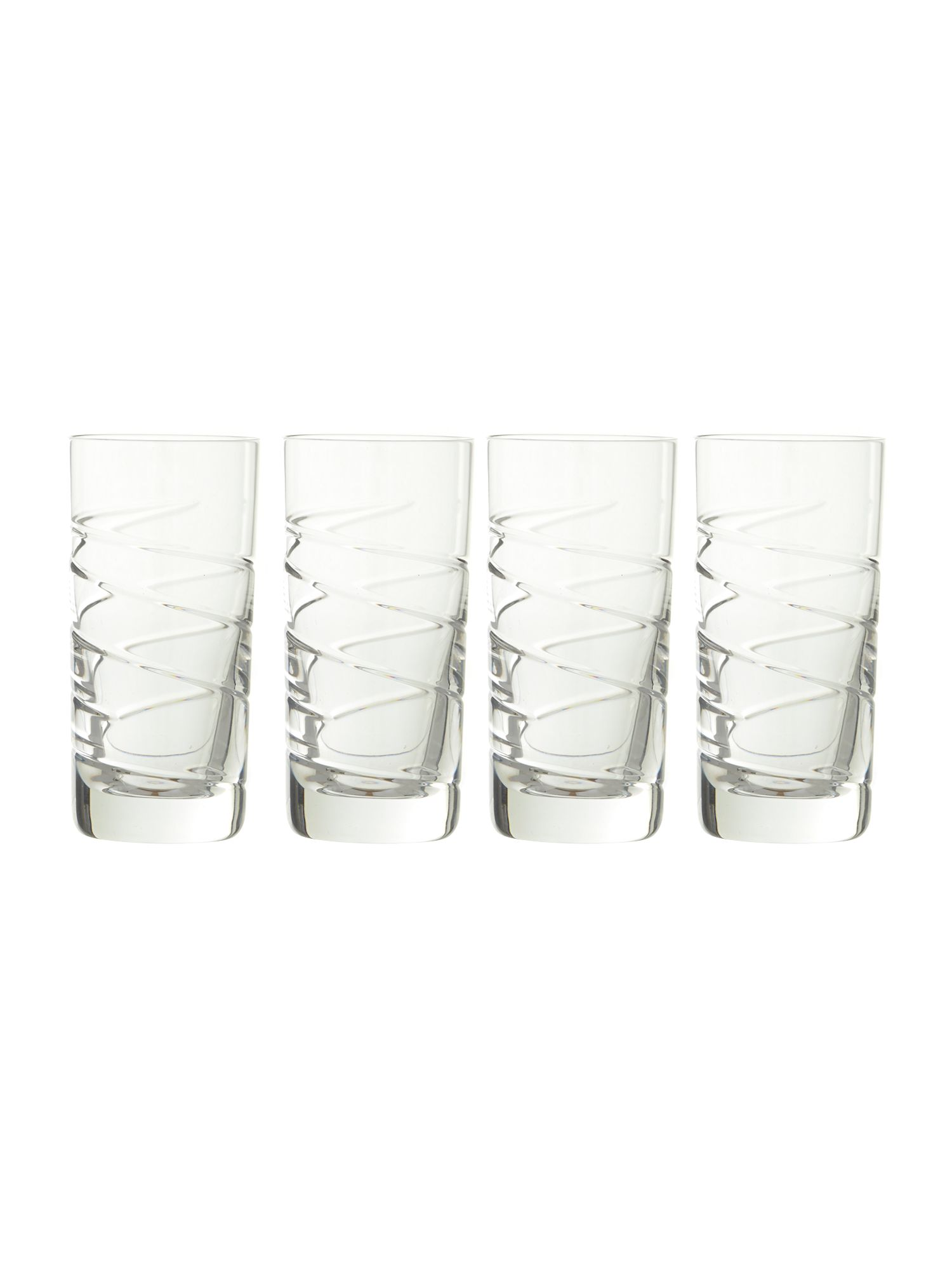 Swirl hi ball glasses, box of 4