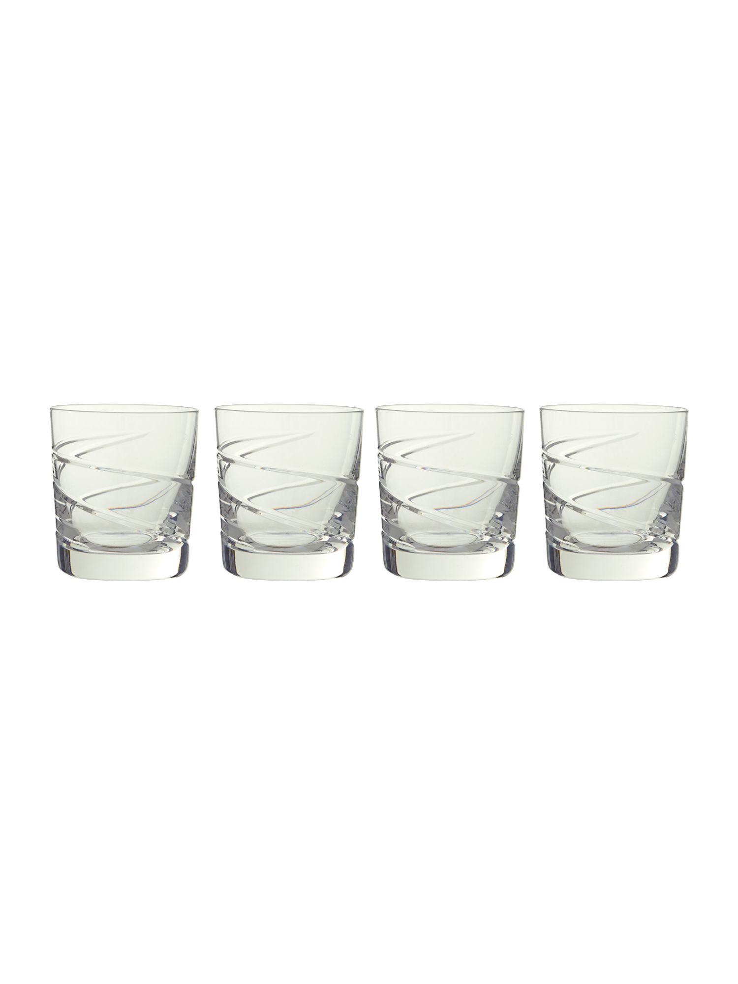 Swirl tumbler glasses, box of 4