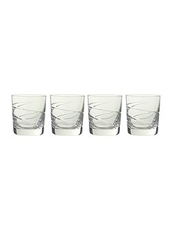 Linea Swirl tumbler glasses, box of 4