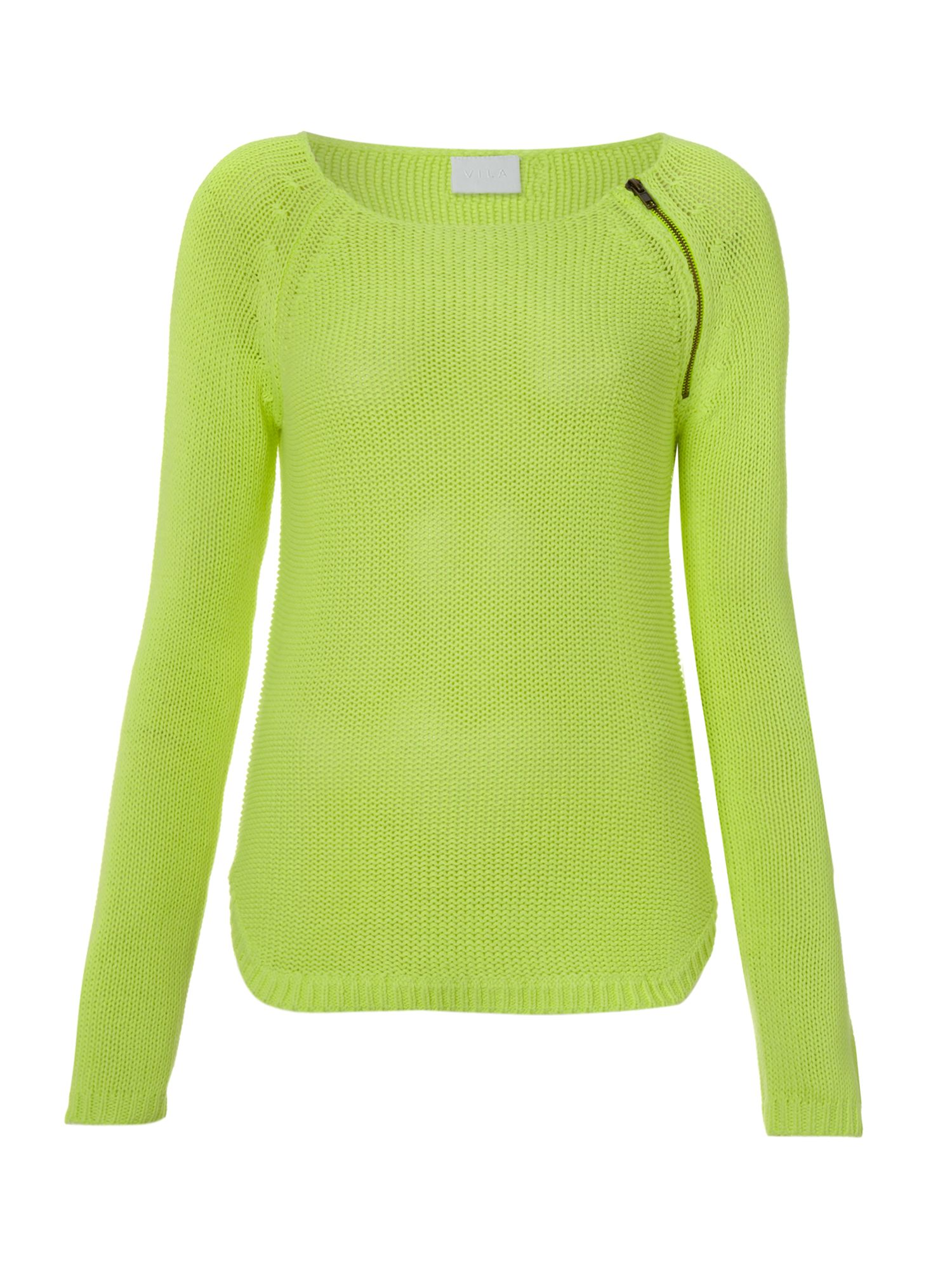 Long sleeve jumper with zip detail