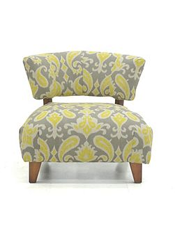 Garda chair in paisley lemon
