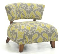 Linea Garda chair in paisley lemon