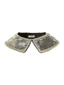 Sequin shirt collar