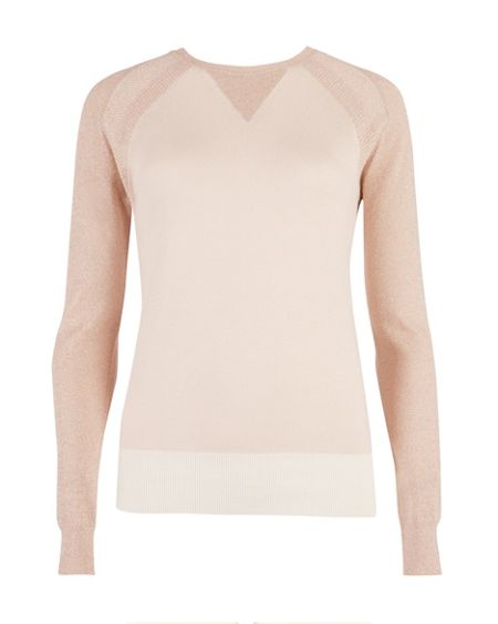 Ted Baker Anada sparkle sleeve sweater