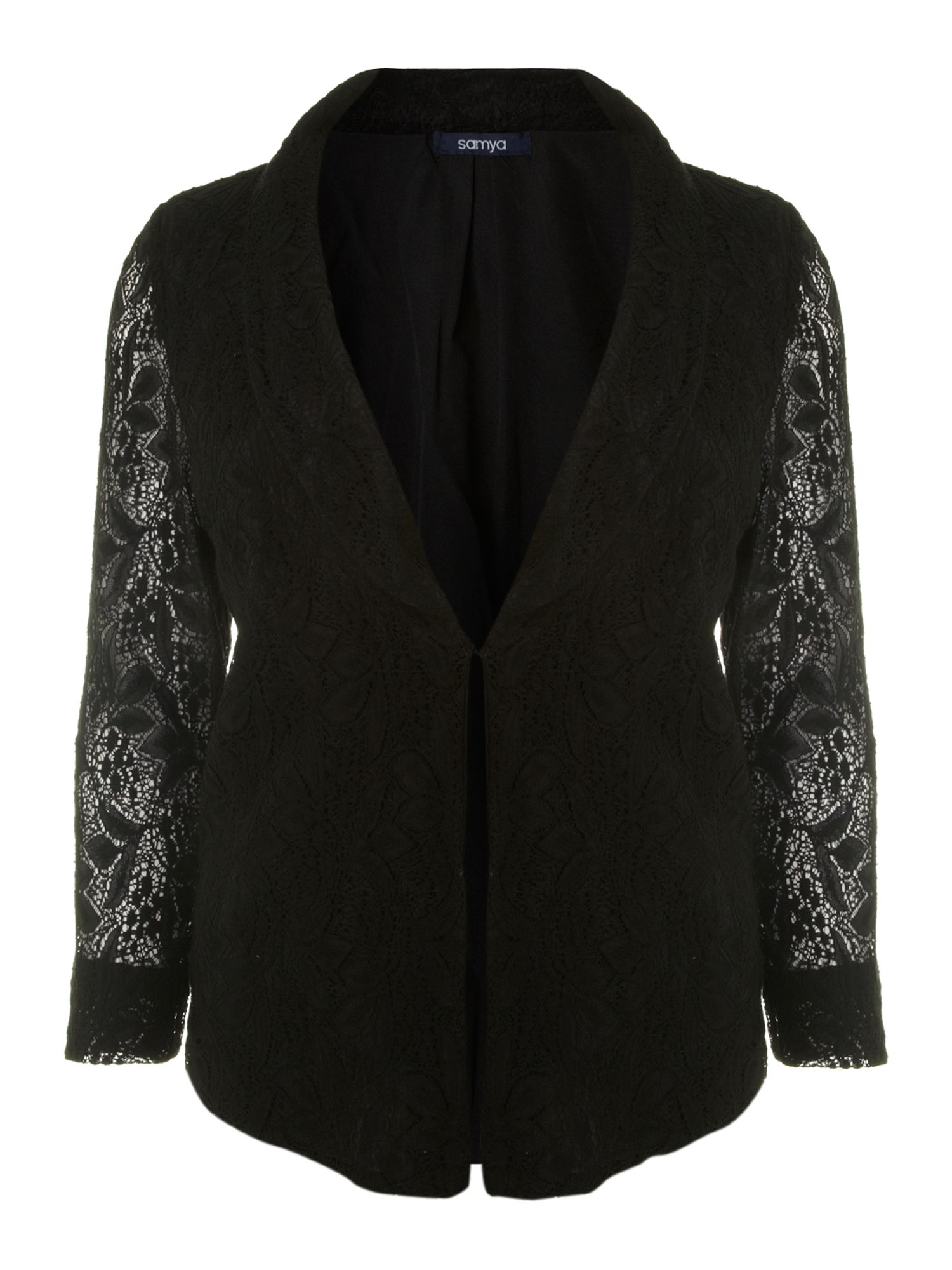 Lace jacket sheer sleeves