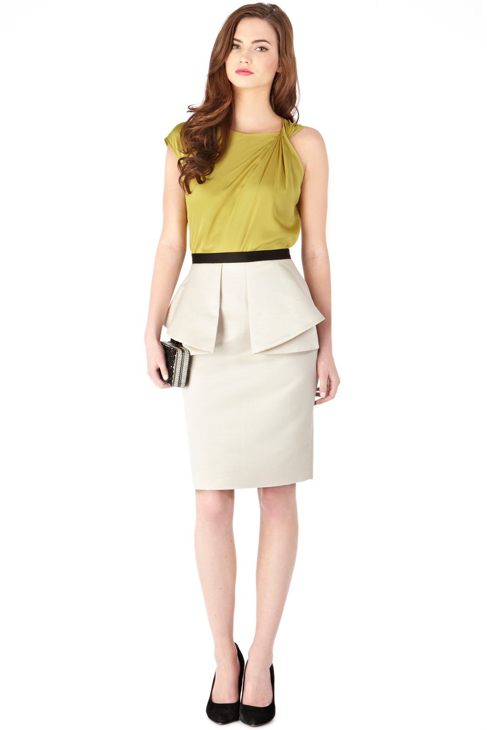 Renee peplum skirt