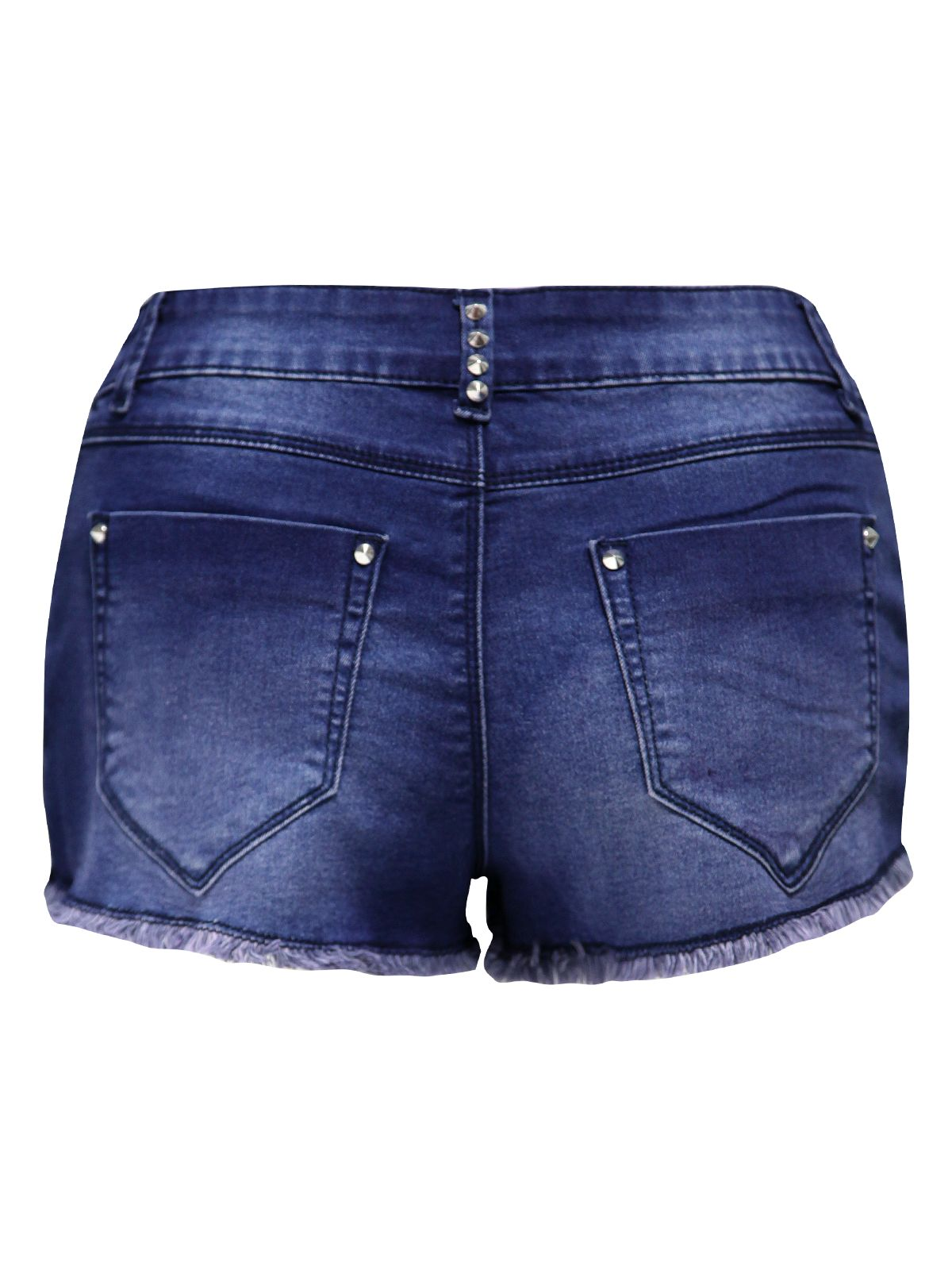 Studded pocket denim shorts
