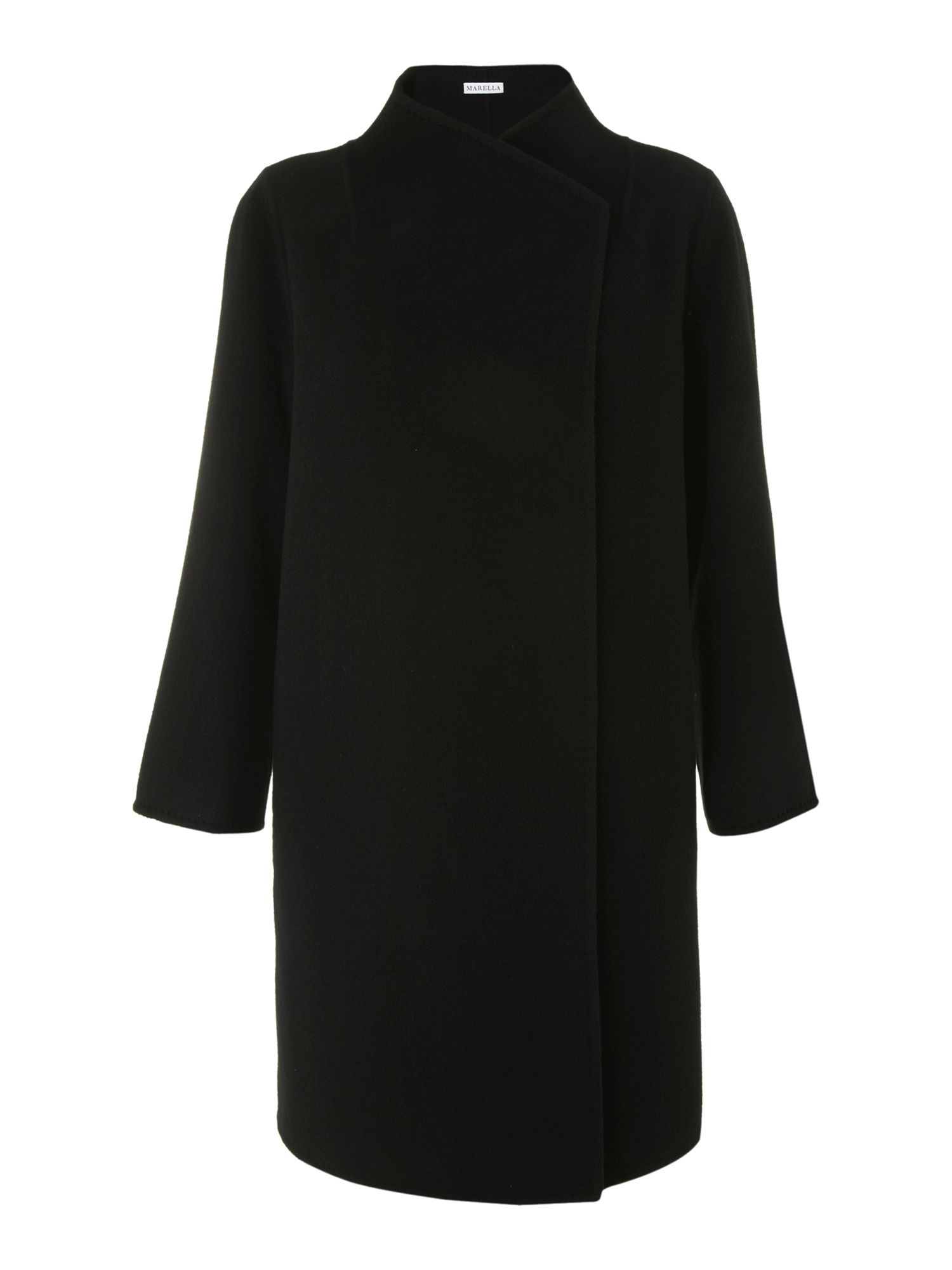 Lione long sleeve cross over coat