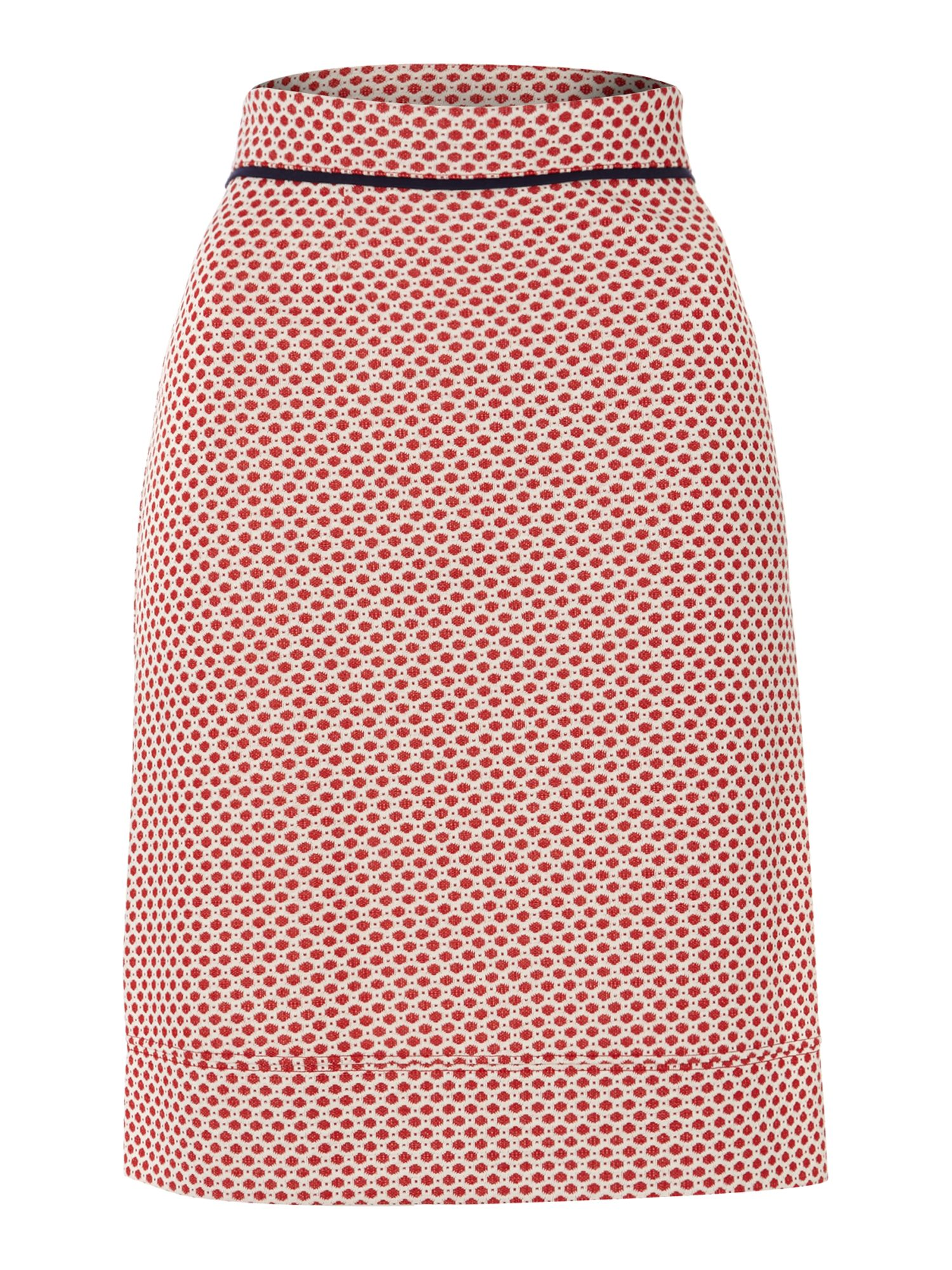 Ladies spot jacquard ponte skirt
