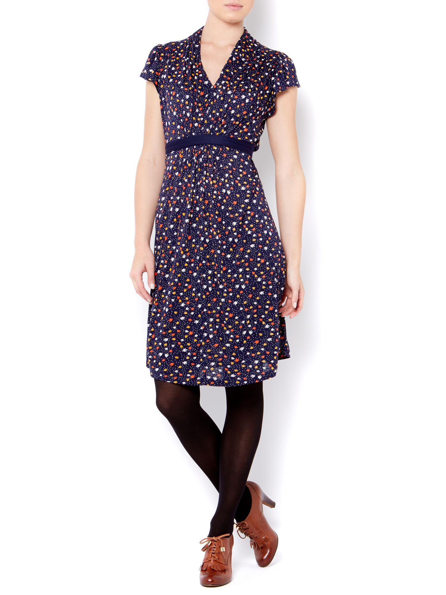 Ladies bird print dress
