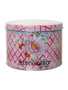 Accessorize Mug in tin - pink flower