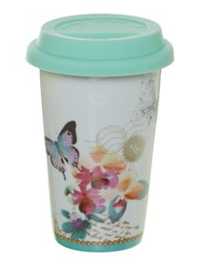 Mug to go - white butterfly