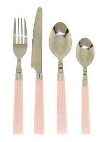 16 piece cutlery set, pink