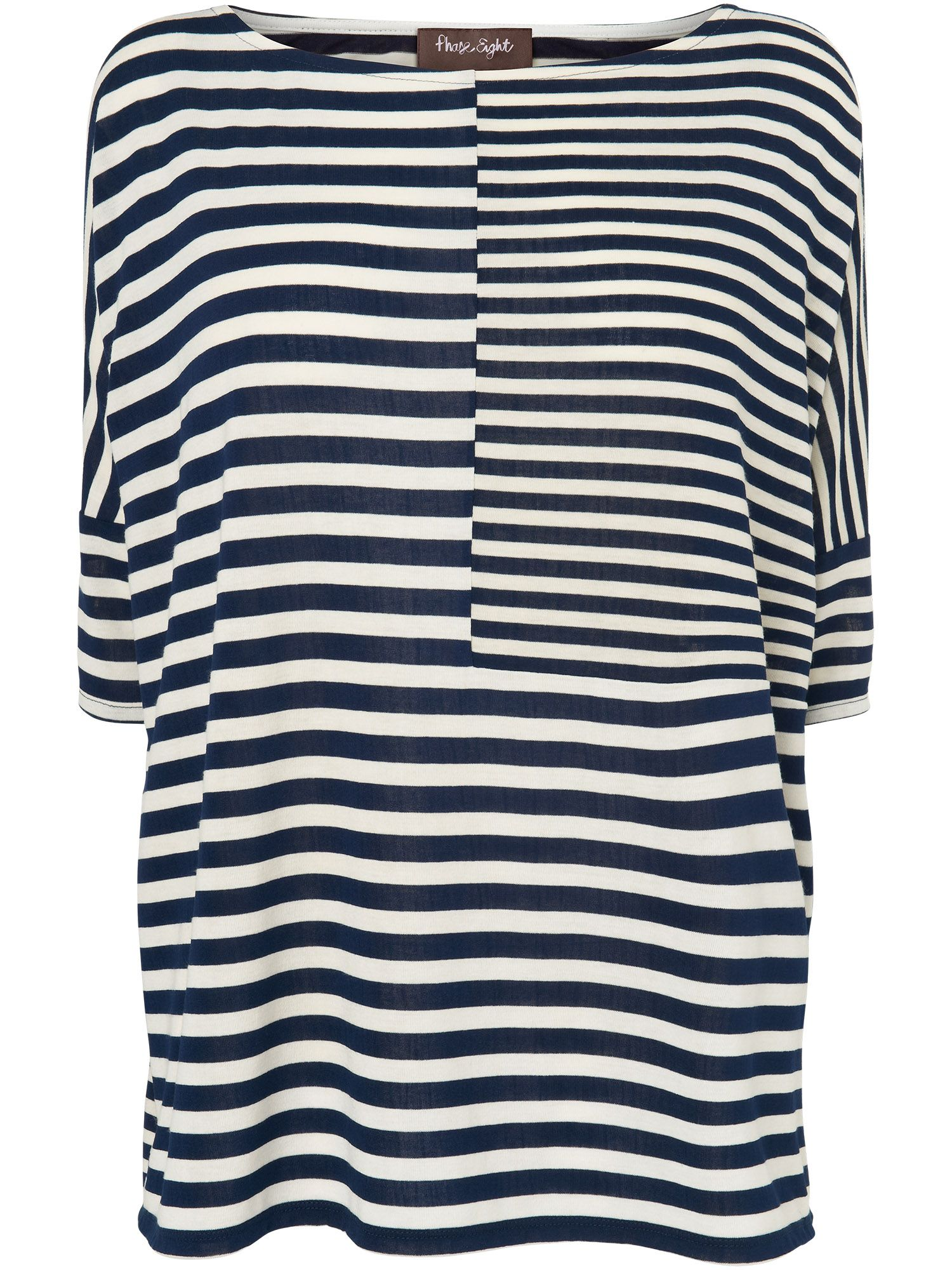 Oversize mix and match stripe top