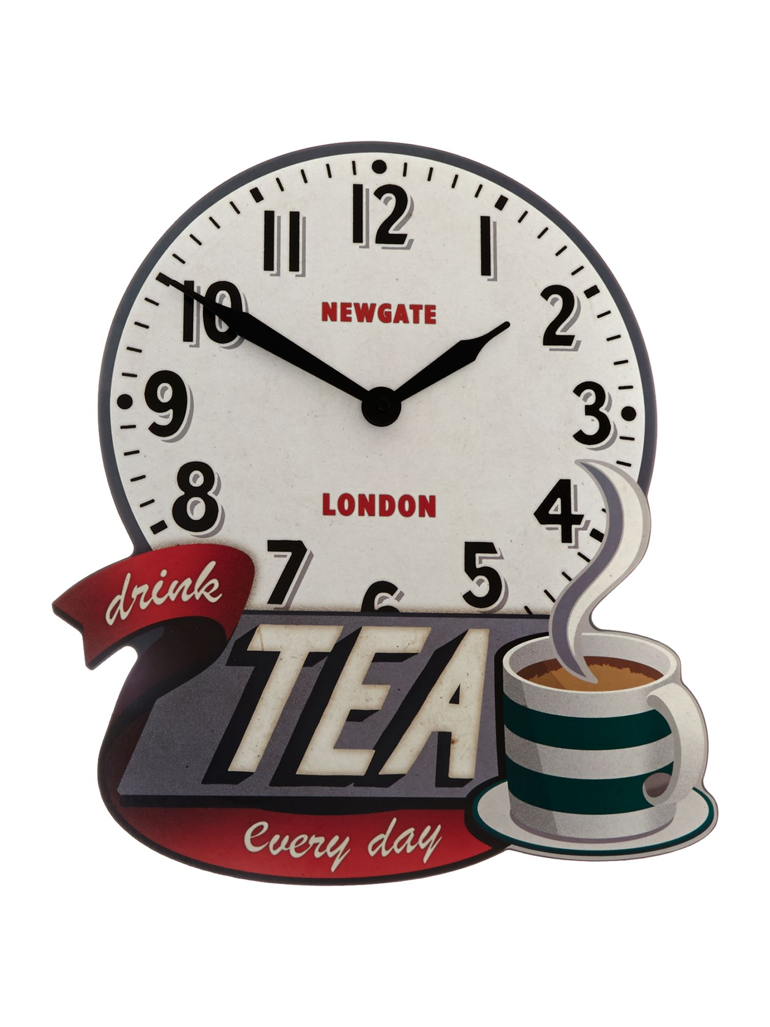 Drink tea wall clock