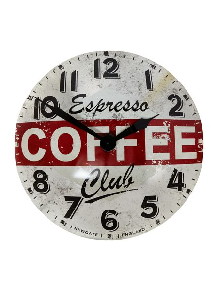 Newgate Coffee advertising wall clock