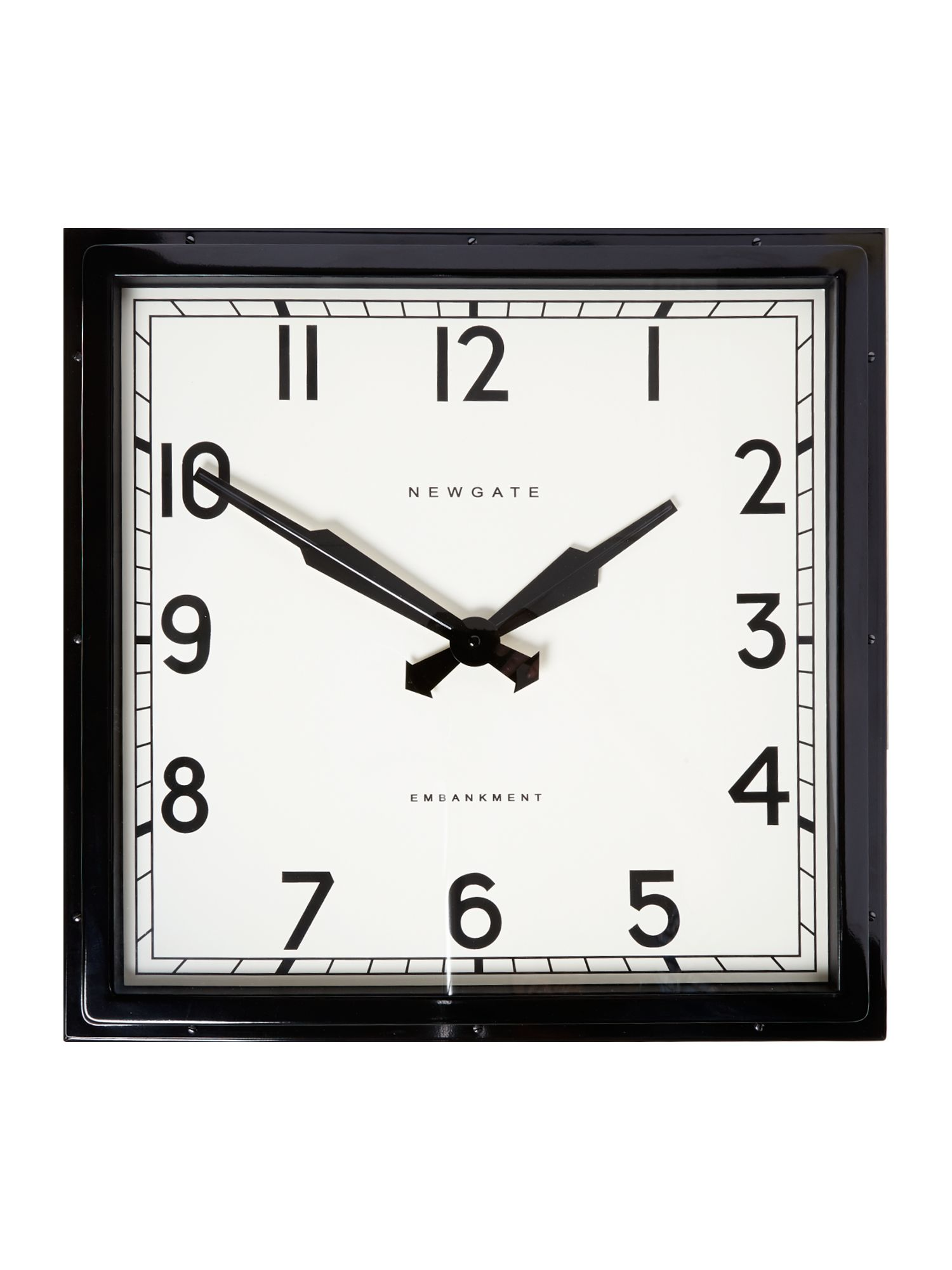 Embankment black wall clock
