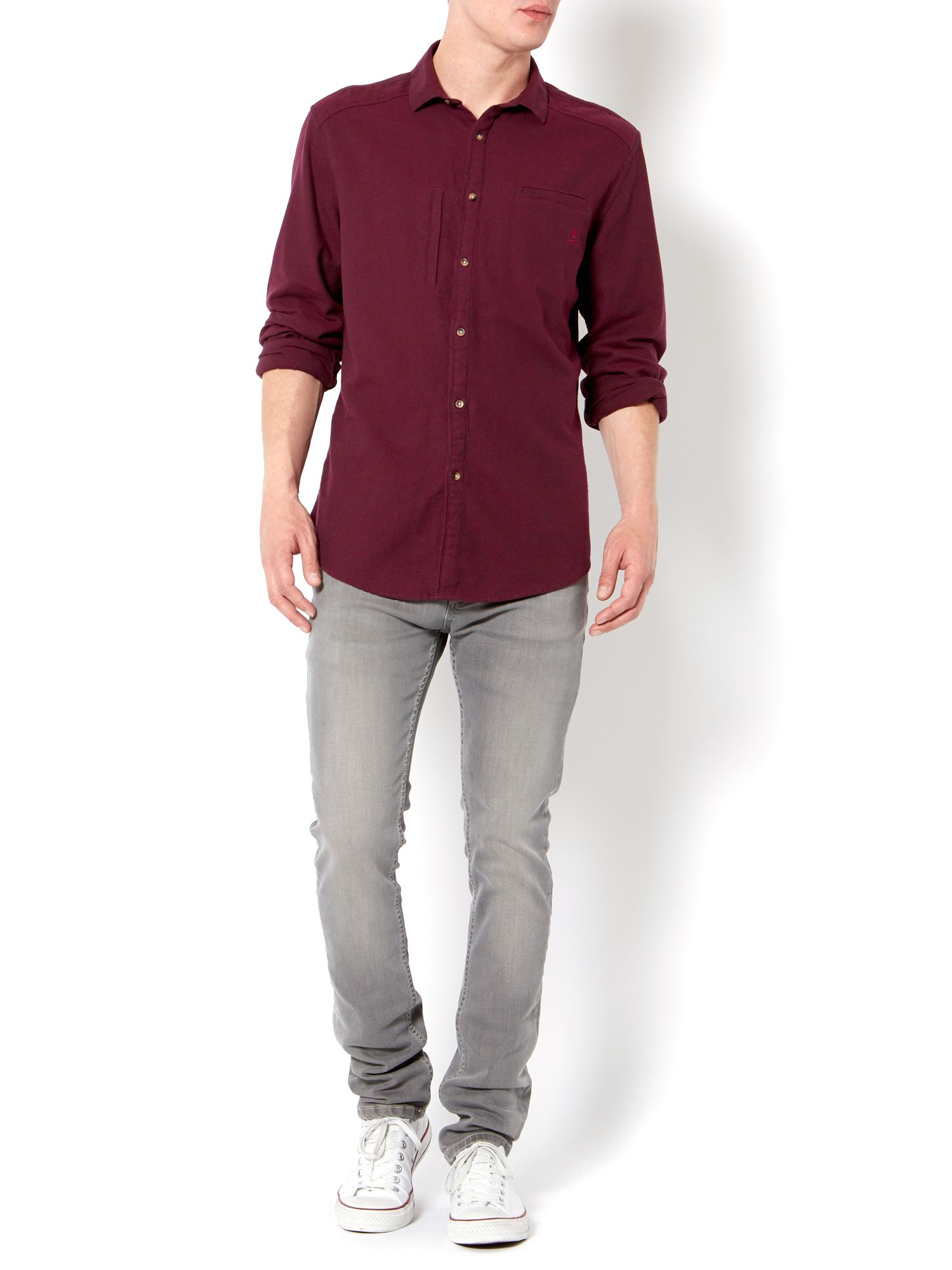 Toddington long sleeve brushed shirt