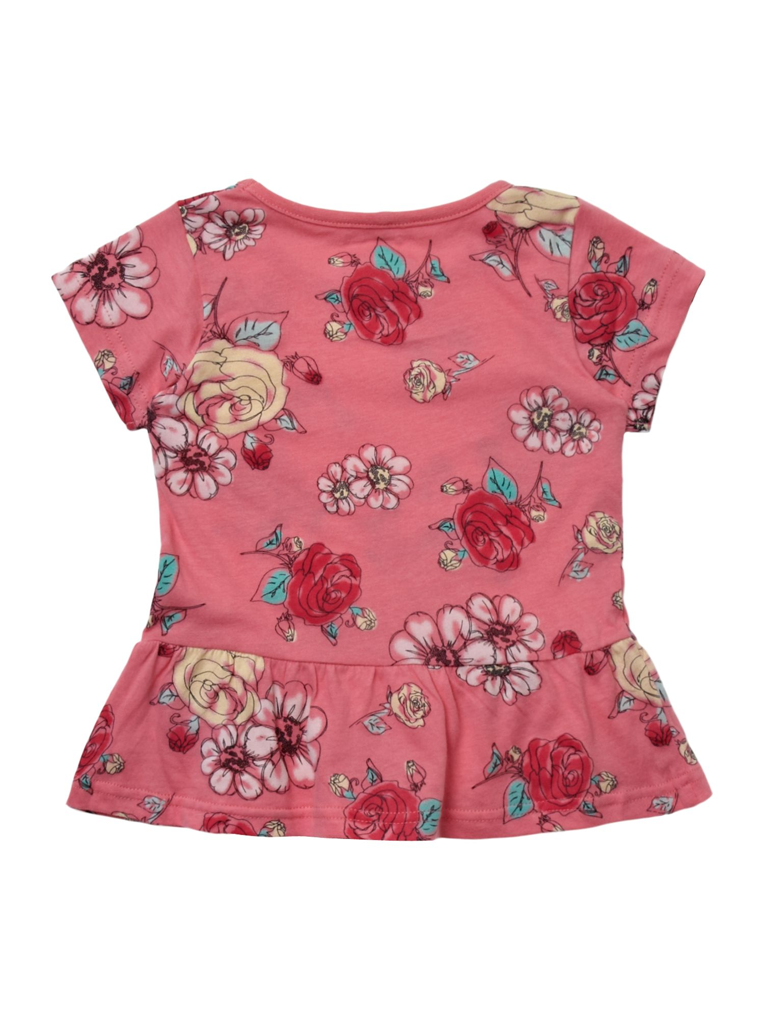 Girl`s floral peplum top