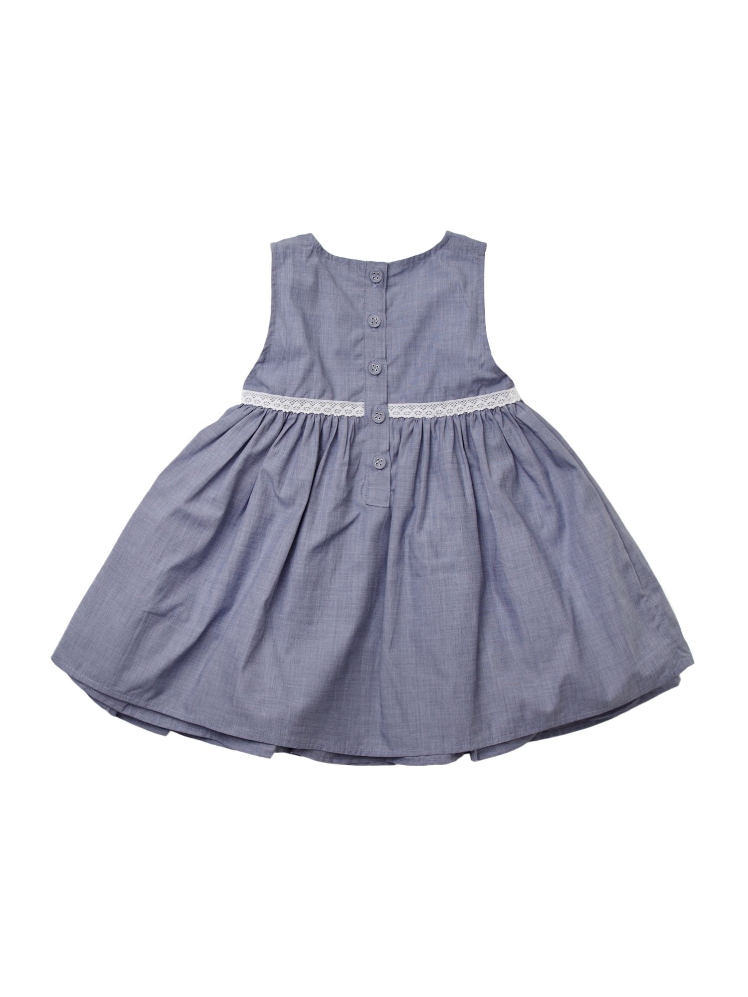 Girl`s chambray summer dress