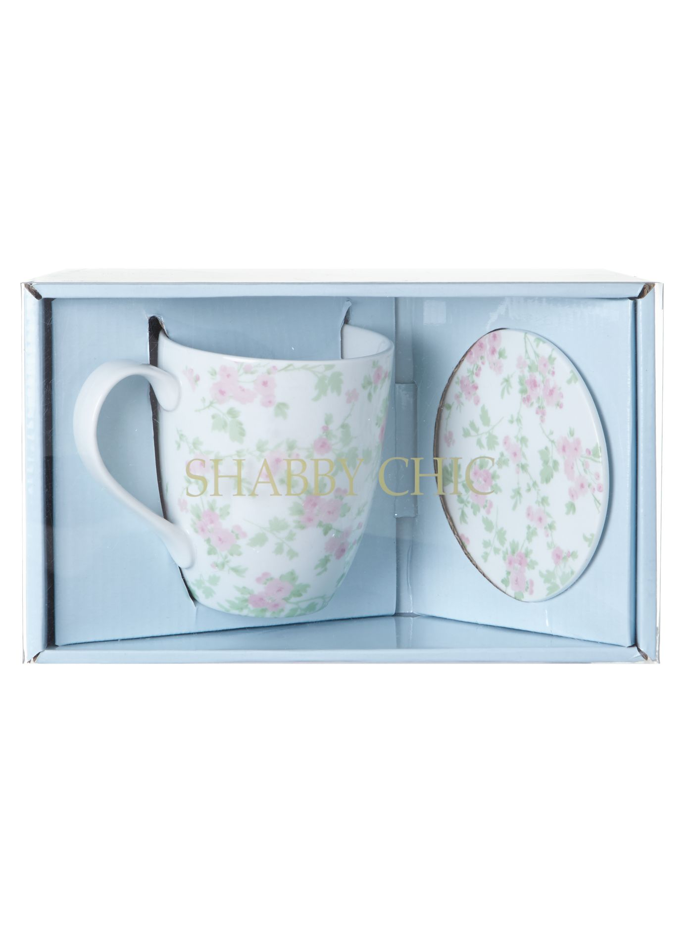 Boxed mug and coaster set cherry blossom