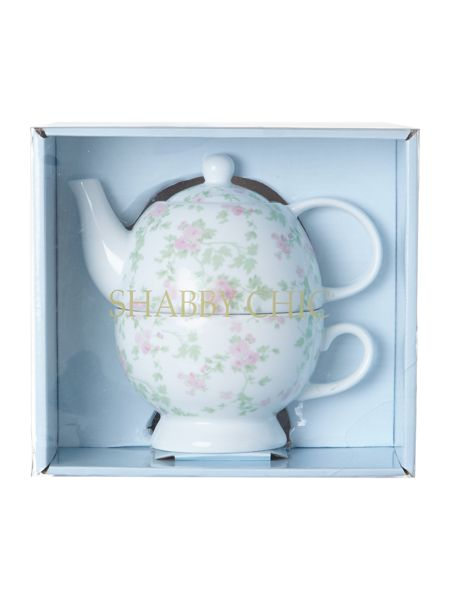 Shabby Chic Boxed tea for one cherry blossom
