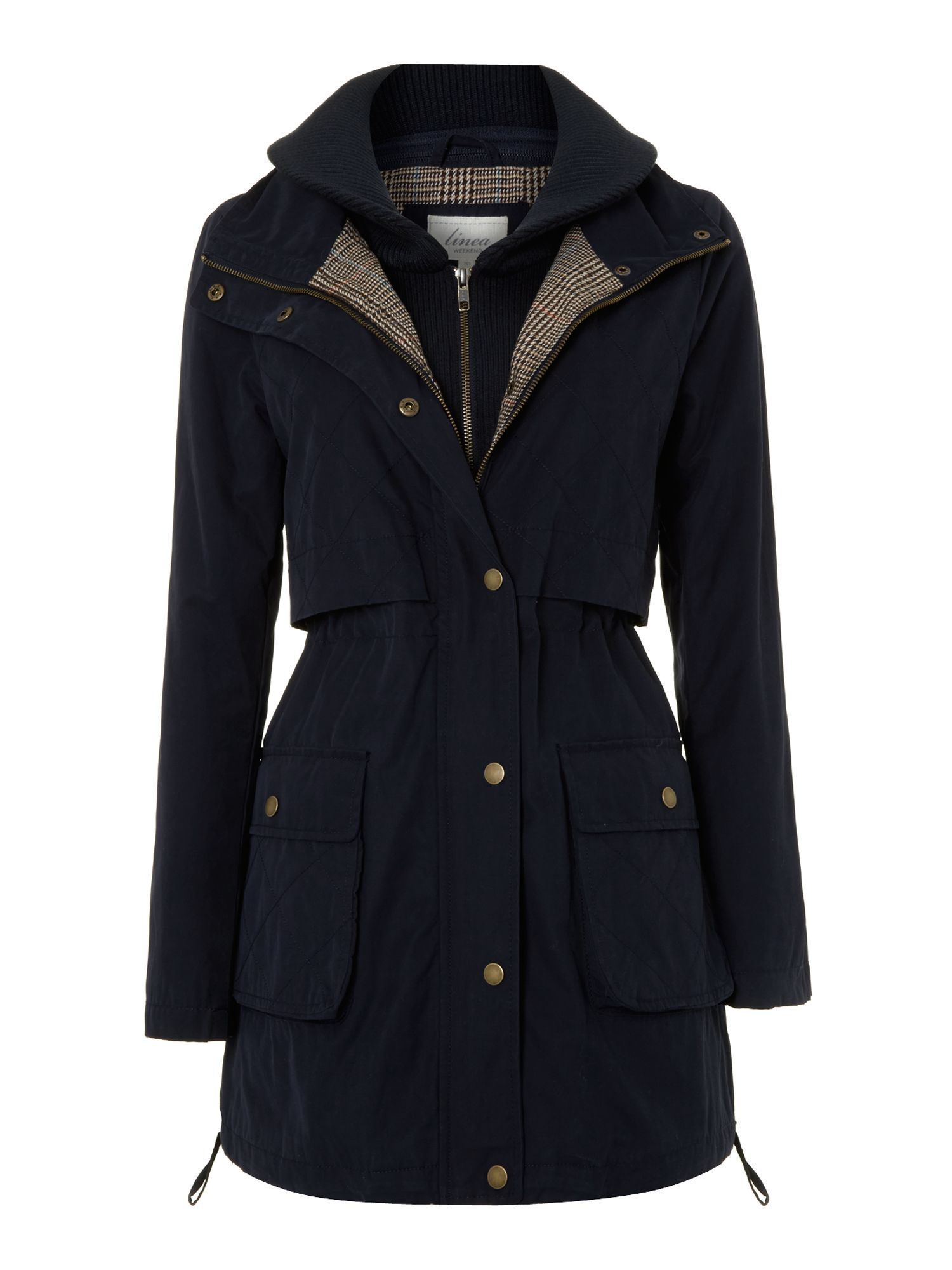 Ladies wax parka coat