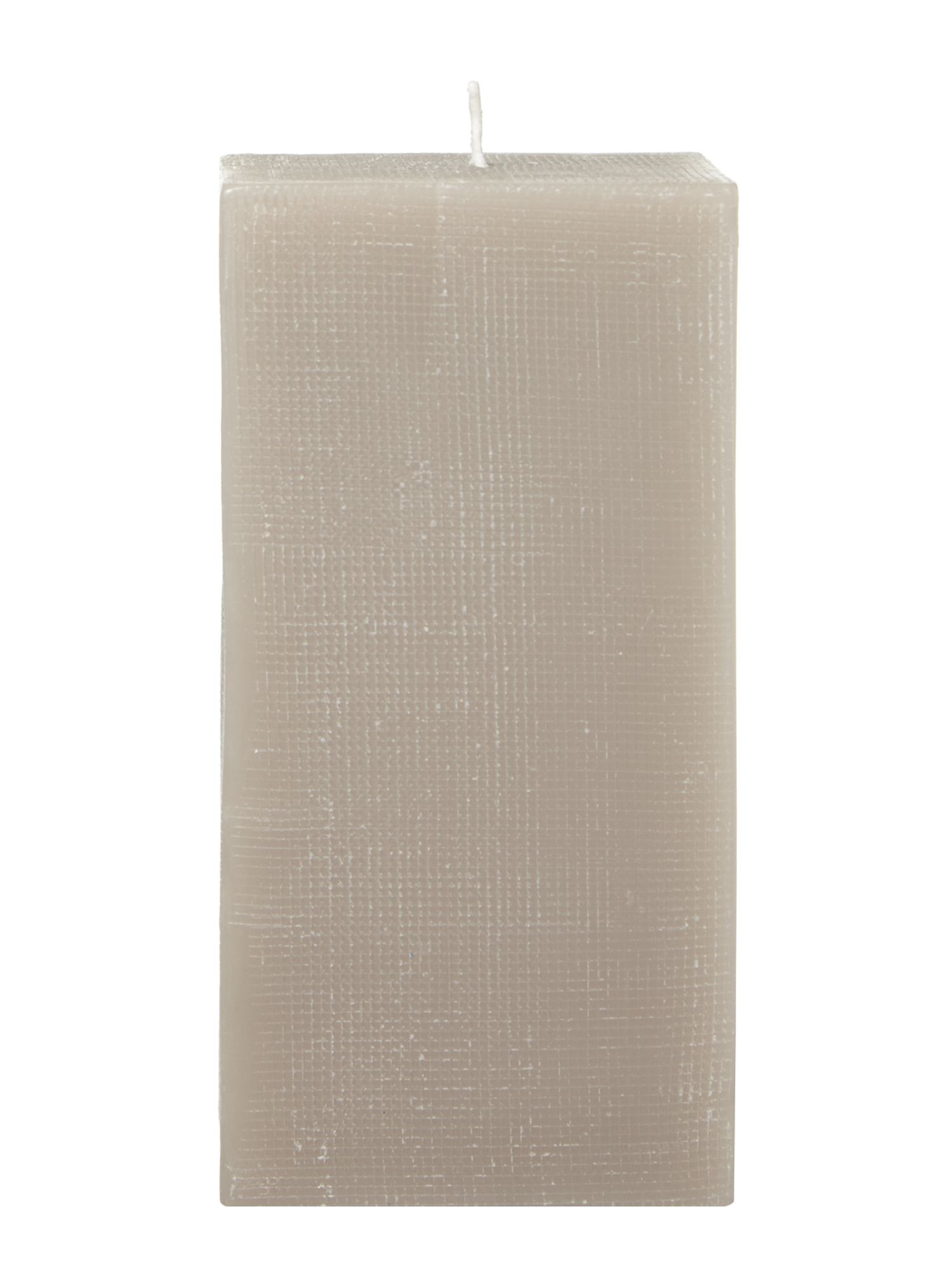 Luxe grid pillar candle