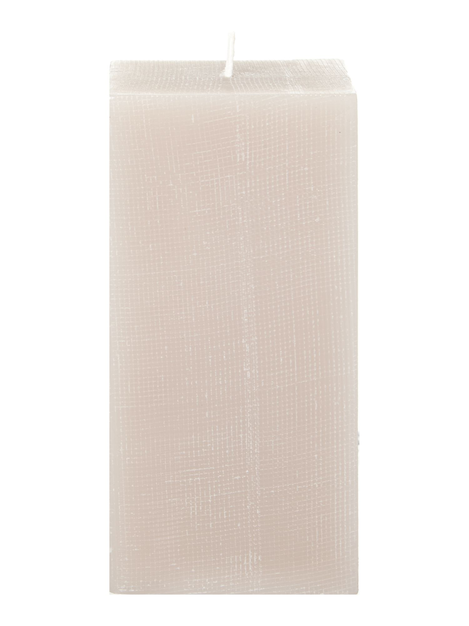 Calm grid pillar candle