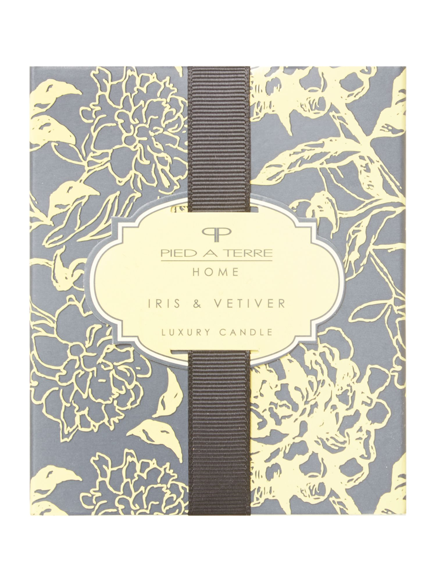 Iris & vetiver boxed single candle