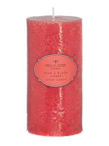 Plum & black amber pillar candle