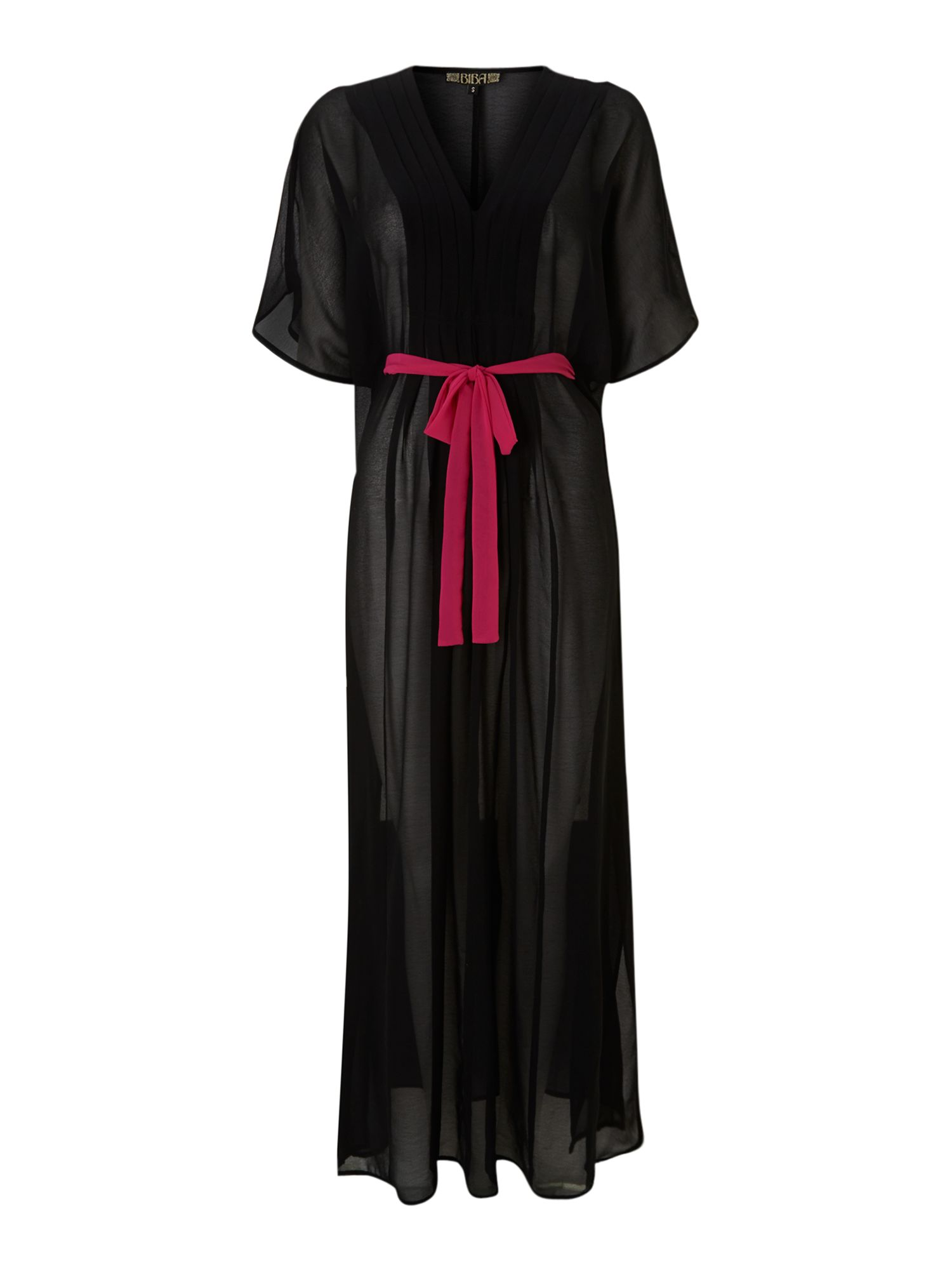 Pleated maxi kaftan