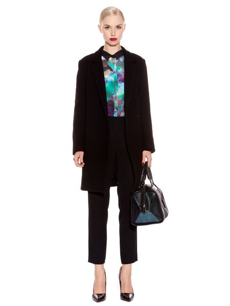 Pied a Terre Mannish Wool Coat