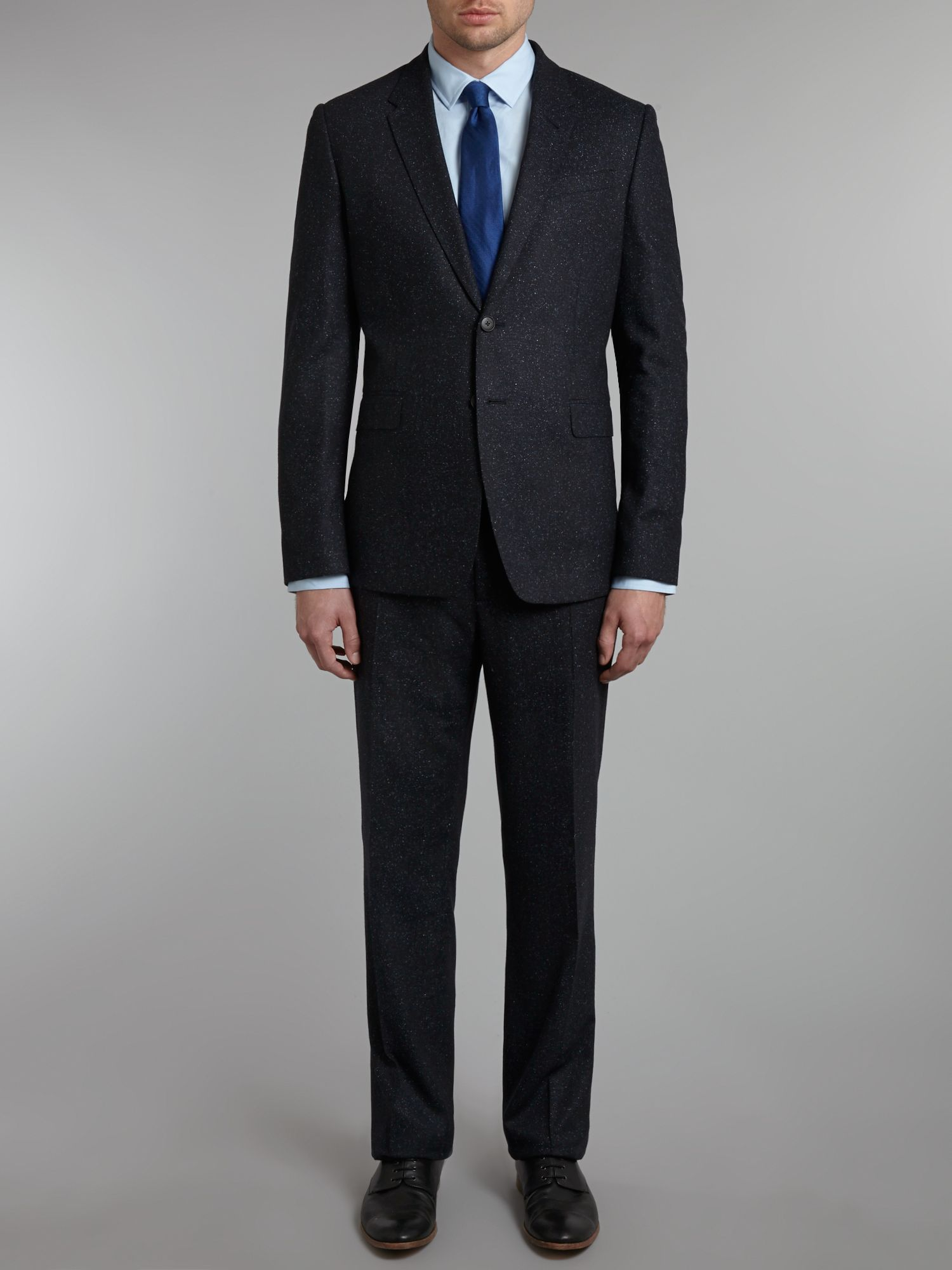 Byard wool fleck slim fit suit